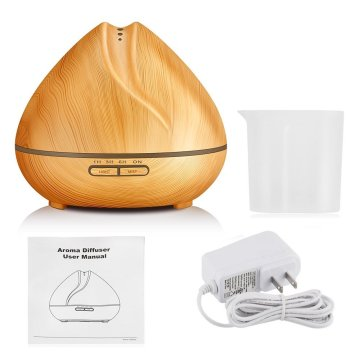 300ml Aromatherapy Diffuser with Wood Grain