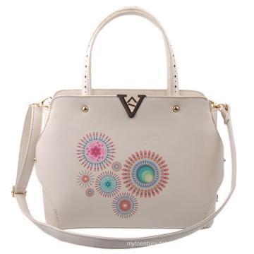 Guangzhou Supplier Designer PU Leather Handbags Printing Bag for Lady Handbag Set (L5001)