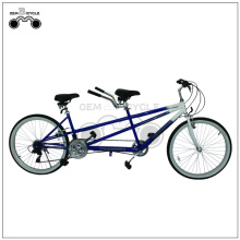26 Inch 18 Speed Beach Style Tandem Bicycle for 2 persons