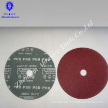 disques abrasifs enduits de fibre pour le métal et les meubles