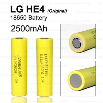 18650 LG He4 Batterie rechargeable au lithium-ion 2500mAh / 35A