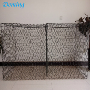 Pulverlackerad hexagonal vävnad Gabion Box Price