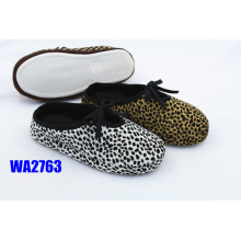 Women's Leopard Printed Platform Scafo Indoor Slippers