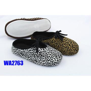 Women's Leopard Printed Platform Scafo Indoor Slippers