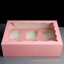Bandeja de bolo de papel / caixa de exposição de papel