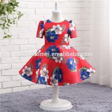 Últimos vestidos impresos de las muchachas de flor del desgaste del partido de los niños para casarse el vestido del niño para la fiesta
