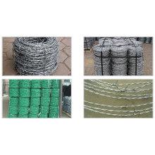 Verde, PVC, farpado, fio, cerca