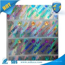 ZOLO top selling PET Custom 3d Hologram Sticker, stickers cartoon label