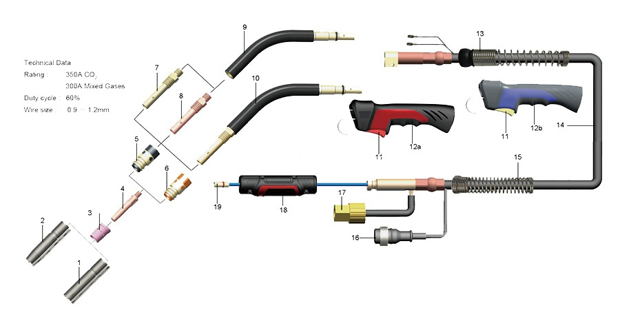 350a Welding Torches