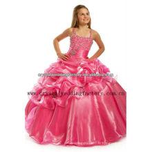 Les meilleures ventes perlées robe à billes rouge concours bouffant robe de fille fille CWFaf5266