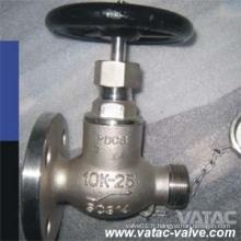 JIS 5k / 10k A216 Wcb / CF8 / CF8m / Ss304 / Ss316 Bride Marine Soupape Fabricant