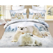 Diseños de oso de tela de impresión de pantalla para sábana