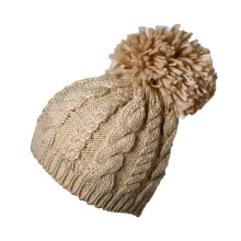 Promocional por encargo de las mujeres de la señora invierno cálido de punto de acrílico de ganchillo Slouch Baggy Beret Beanie Hat Cap