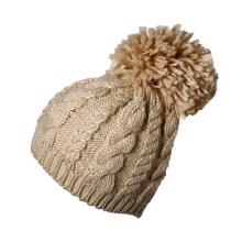 Рекламные выполненные на заказ женщин леди зимой теплый трикотажные акриловые вязание крючком сумка мешковатый берет шапочка Hat Cap