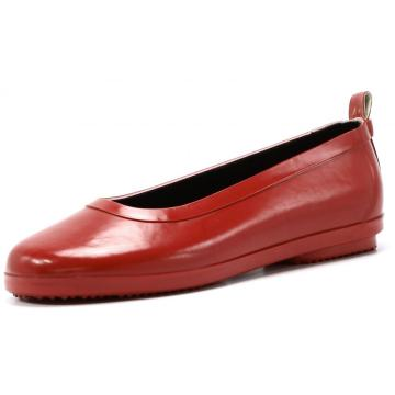 Red Boat shoes Style Women Rubber Rain Boots