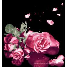 Розовый узор из хлопковой ткани