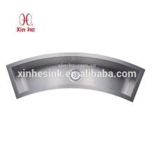 Évier de cuisine fait main d'acier inoxydable incurvé par arc, évier de barre d'acier inoxydable de Ticor