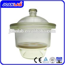 JOAN LAB Equipment Desecador de vacío de vidrio transparente con placa de porcelana