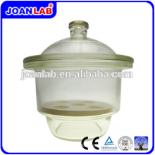 JOAN LAB Equipment Clear Glass Vacuum Desiccator With Porcelain Plate