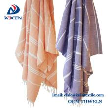 Chine fournisseurs 100% coton turc hammam serviette de bain serviette de plage avec fouta