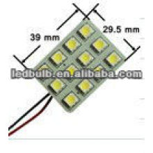 Led car light led car dome lamp 12pcs 5050 SMD