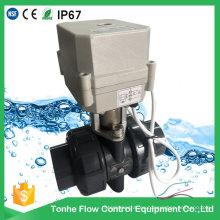"""IP67 2 vías 1 1/4 """"pulgadas Dn32 motorizado UPVC válvula de bola de actuador eléctrico de PVC"""