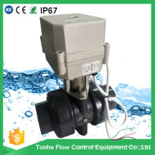 "IP67 2-Way 1 1/4"" Inch Dn32 Motorized UPVC PVC Electric Actuator Ball Valve"