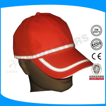 ultraviolet-proof sport cap with EN 471 color reflective tape