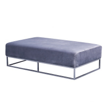 Metal Base Bed End Footrest Living Room Sofa Set Furniture Long Modern Velvet Ottoman Bench