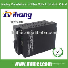 10 / 100M fibra óptica Media Converter multimodo de fibra dual puerto ST