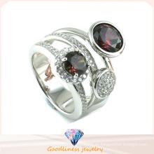 China Precio de fábrica joyas al por mayor de moda 925 color plata CZ joyas anillo (R10340)