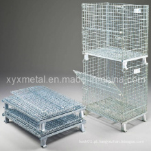 Armazém Armazenamento Folding Wire Mesh Stillage Cage