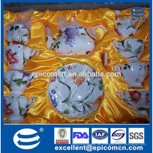 Nuevo modelo 15pcs 17pcs fino porcelana cerámica crokery taza taza plato té café conjunto