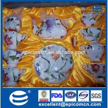 Nouveau modèle 15pcs 17pcs fine en porcelaine en céramique crokery tasse tasse sous forme de thé cafetière