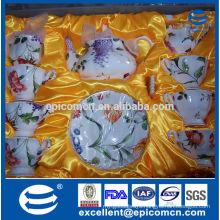 new model 15pcs 17pcs fine porcelain ceramic crokery cup mug saucer tea coffee set