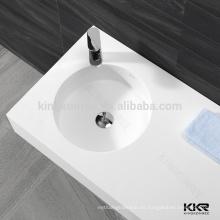 lavabos del cuarto de baño de una pieza de piedra artificial, lavabo