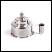 lampe à alcool en acier inoxydable 250ml