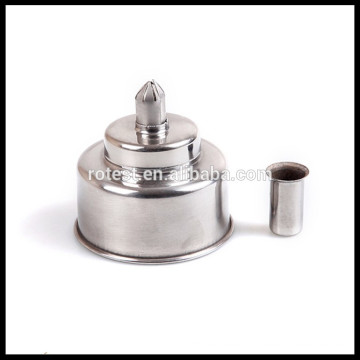 Lámpara alcohol de acero inoxidable 250ml.
