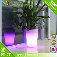Couleur changeant pot de fleur de LED / décoration de jardin Fleur de LED vase / pot de fleur de LED
