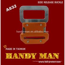A832 Harness Aluminium / Steel Side Quick Release Fivela de segurança