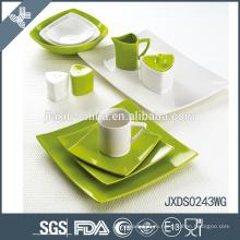 Квадратный зеленый элегантный дизайн фарфора красочные мексиканские керамические посуда наборы