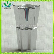 Heißer Verkauf, der in den silbernen keramischen Vasen des Porzellans hergestellt wird Großverkauf