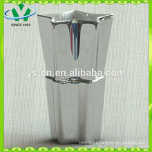 Hot selling made in china silver ceramic vases wholesale