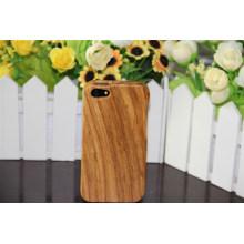 Caso de madeira da tampa do fornecedor da fábrica de China para o iPhone com tecnologia do óleo de cera