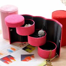Caixa de jóias de papel promocional, caixa de jóias de apresentação de veludo