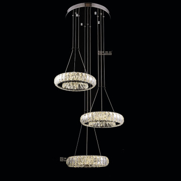 Hecho en China K9 crystal modern led Luxury Chandelier