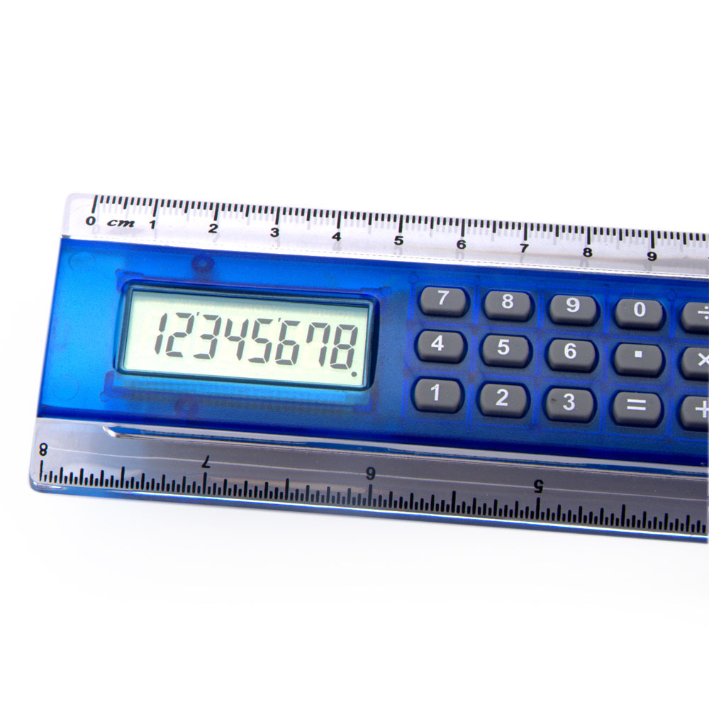 8 Digits 4 color 20cm ruler calculator