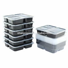 3 recipientes de armazenamento da preparação da refeição do produto comestível do compartimento Bento reutilizáveis empilháveis livres da caixa BPA