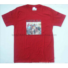Printing Polyester with Cotton Round Neck. Short Sleev T-Shirt