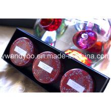 @Christmas Seriess Water Lily Organic Cire de soja Bougie naturelle en étain parfumée